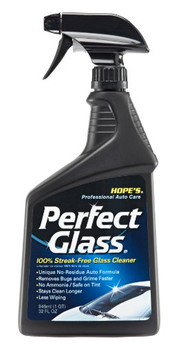 Hope's Perfect Glass Automotive Glass Cleaner, 32-Ounce, No-Residue Formula, Removed Bugs & Road Grime, Safe on Tint, - Tint On Glasses