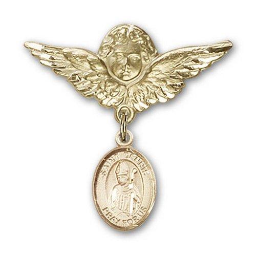 Icecarats Or Bijoux De Créateurs Rempli R. Dennis Charme Ange Broche De Badge 1 1/8 X 1 1/8