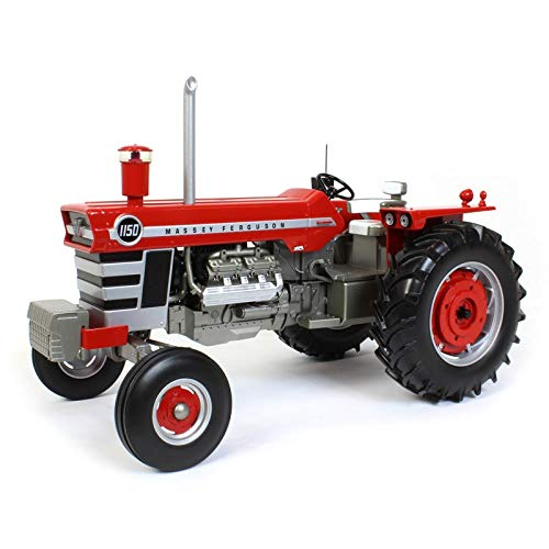 1/16 High Detail Massey Ferguson 1150 Wide with Weights, Radio and Straight Pipe SCT709