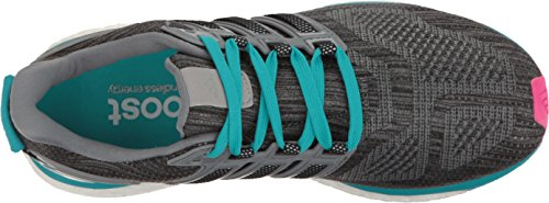 Adidas Womens Energy Boost 3 Scarpe Da Corsa, Leggere, Confortevoli E Flessibili Vestibilità Vista Grigio Bianco / Grigio Medio S