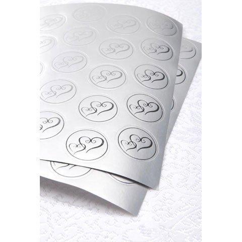Bulk Buy: Darice DIY Crafts Victoria Lynn Foil Envelope Seals Double Heart Silver 50 pieces (3-Pack) VL3469