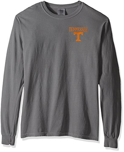 NCAA Tennessee Volunteers Vintage Poster Long Sleeve Comfort Color Tee, Medium, Grey - Tennessee Volunteers Ncaa Tee
