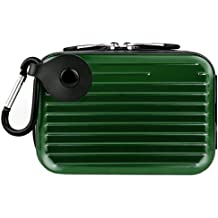 Metallic Pascal Hardshell Aluminum Cube Case (Green) For Canon Power-Shot IXUS, ELPH, SD, IXY, IS Digital Point And Shoot Camera