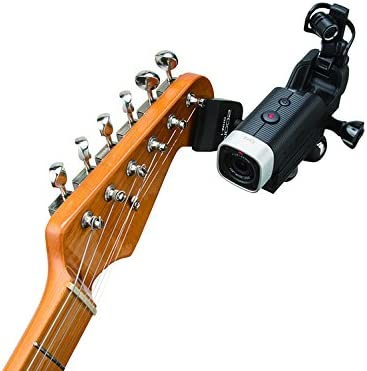 Q4n Q4 and Q8 Flat Clamp Mount Zoom GHM-1 Guitar Headstock Mount Designed to be Used With Q2n Q2n-4K