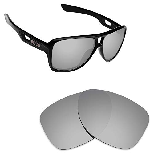 Alphax Silver Titanium Polarized Replacement Lenses for Oakley Dispatch 2
