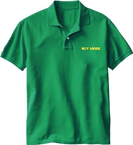 (Chuck Buy More Electronics Store Employee Green Costume Tee Polo (Adult)