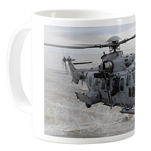 AquaSakura - Airbus Helicopters H225m Eurocopter Ec725 France Air Force - 11oz Ceramic Coffee Mug Tea Cup