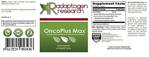 OncoPlus Max - 90 vcaps • 500mg Concentrated BroccoRaphanin from Broccoli Seed Extract • by Adaptogen Research Pharmaceutical Grade Supplements by Adaptogen Research (Image #1)