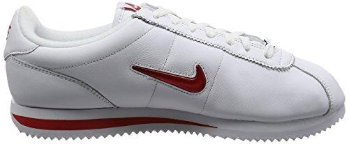 Nike Men Cortez Basic Jewel Qs (bianco / Rosso Università) Bianco / Rosso Università
