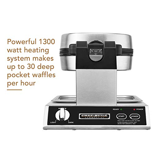 CHEF-BUILT (CWM-300) Commercial Rotating Classic Waffle Maker  by CHEF-BUILT (Image #2)