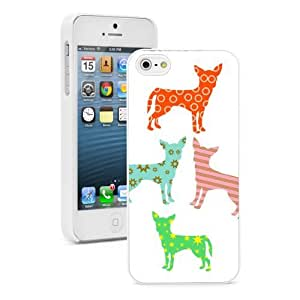 Apple iphone 5c White 5cW65c1 Hard Back Case Cover Colorful Chihuahuas with Patterns