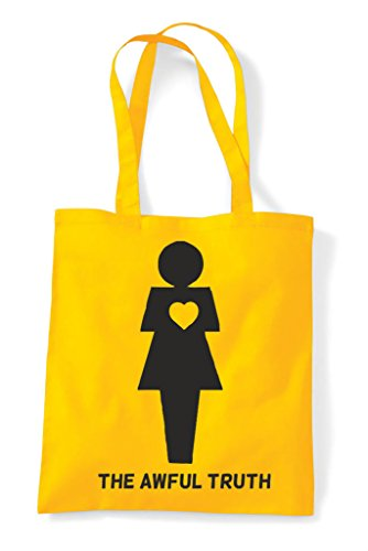 Bag Shopper Gender The Figures Truth Yellow Woman Awful Tote Heart 8ggF1x