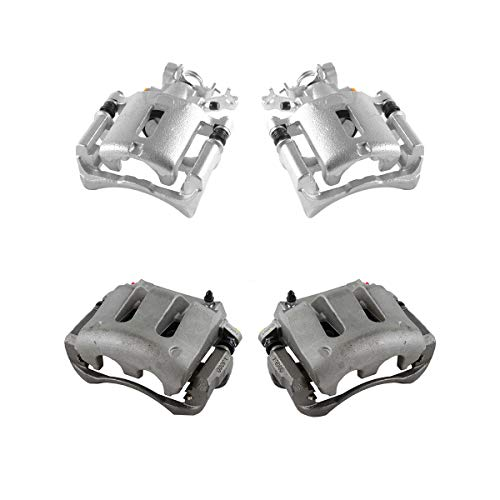 CCK01219 FRONT + REAR [ 4 ] Premium Grade Semi-Loaded OE Caliper Assembly Set Kit [ S197 ] ()