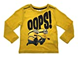 Kids Boys Official Despicable Me Minions Cotton Long Sleeve Top Size 2 - 8 Years