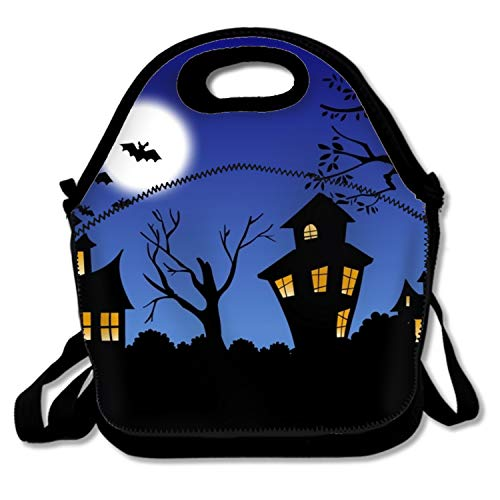 IMISS Reusable Washable Soft Lunch Bag Scary Halloween Night Lunch Box for Men Women Kids for $<!--$14.22-->