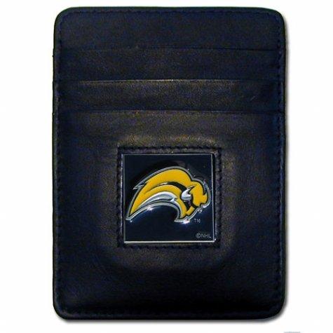 NHL Pittsburgh Penguins Leather Money Clip/Cardholder