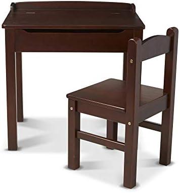 Melissa & Doug Wooden Lift-Top Desk & Chair - Espresso