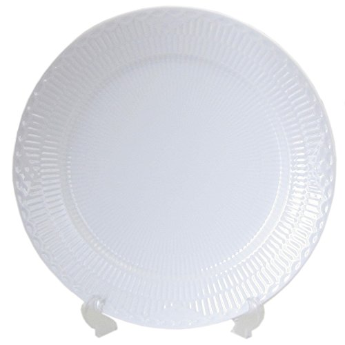 WHITE HALF-LACE BUFFET DINNER PLATE PS
