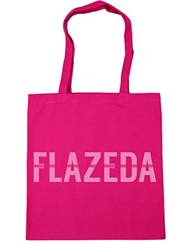 HippoWarehouse Flazeda Einkaufstasche Fitnessstudio Strandtasche 42cm x38cm, 10 liter - Damen, Fuchsia, One size