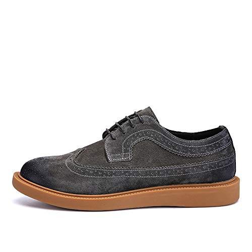 Daik Shoes Color Retro Shennanji Para Zapatos Negocios Coffee Casual De Oxford Low Contrast Brogue Confort Top Hombres Clásico Moda TxBqHw