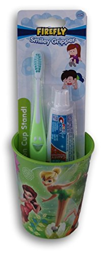 Tinkerbell Disney Fairies Tooth Brushing Kit - Toothbrush, Toothpaste, and Rinsing -