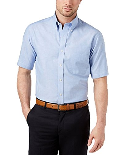 Club Room Men's Classic Oxford Dress Shirt Easy Care Blue Opal Medium
