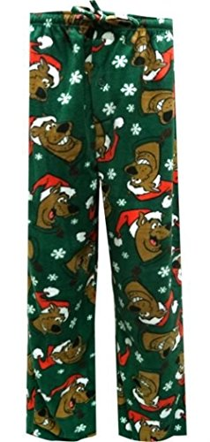 Scooby Doo Plush Pajama Lounge Sleep Pants - (Medium) (Scooby Doo For Adults)