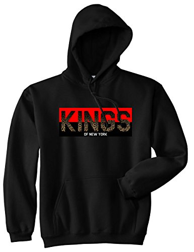 Kings Of NY Cheetah Logo Animal Print Leopard Kids Boys Pullover Hoody Sweatshirt Large (Animal Logo Sweatshirt)