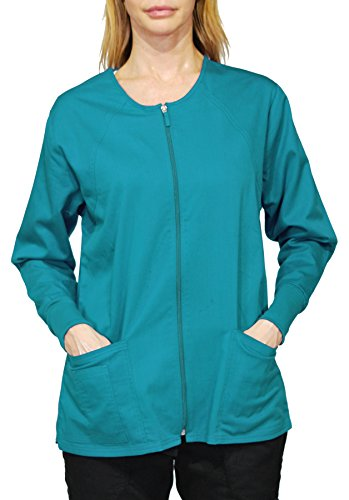 Hey Medical Uniforms Simply Smile Stretch Twill Zip-Front Warm-Up Jacket - Hey Uniforms