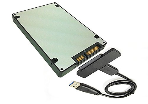 Sintech NGFF M.2 BM Key SSD to SATA 3 Adapter Card Case with USB 3.0 SATA Cable by Sintech