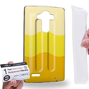 Case88 [LG G4] Gel TPU Carcasa/Funda & Tarjeta de garantía - Art Hand Drawing Banana Flavor Ice Pop Art2645