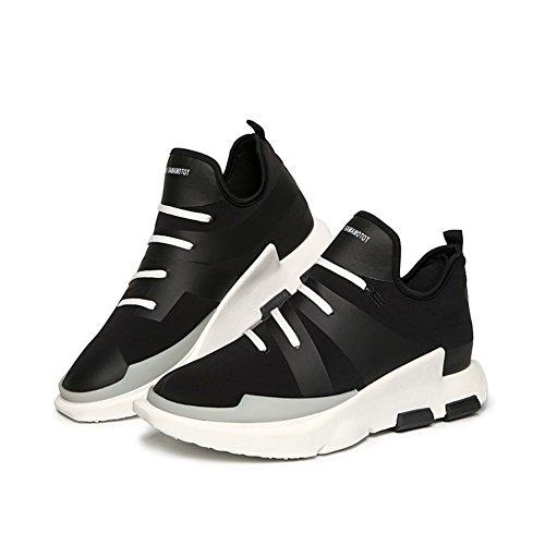 de casuales holgazán Zapatos de Black altura aumento Zapatos hombre Zapatos casuales Zapatos Zapatillas deporte para de HUAN de ZqdwPBq
