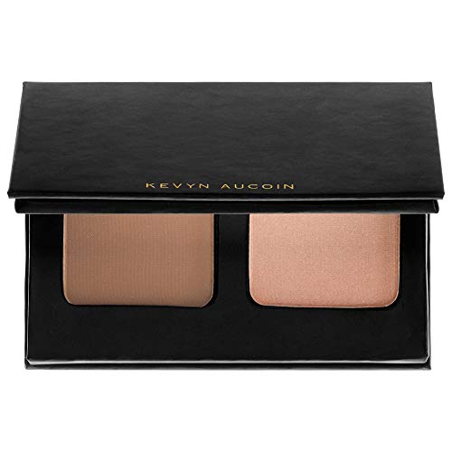 (Kevyn Aucoin The Contour Duo On The Go -Sculpting Powder Medium / Highlight Candlelight)