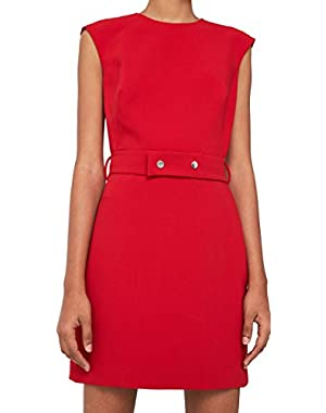 Mango Women's Detachable Belt Dress