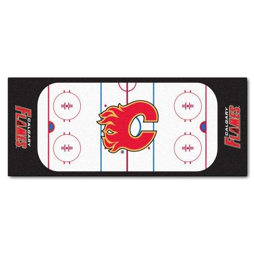 Calgary Flames Rink Floor Mat (FANMATS NHL Calgary Flames Nylon Face Football Field)