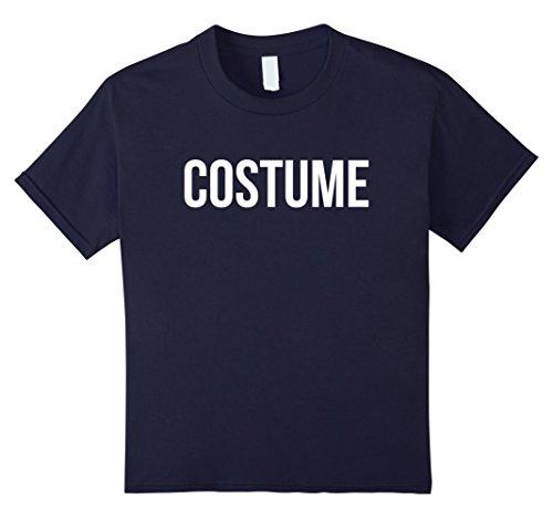 Kids Funny Costume Halloween Simple Sarcastic T Shirt 12 Navy