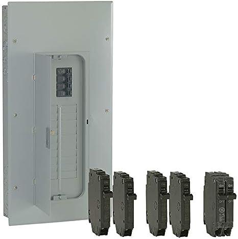 GE Main Breaker Box Load Center 200 Amp 40-Space 80-Circuit Galvanized Indoor
