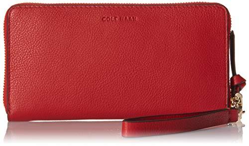 Cole Haan Piper Zip Around Wallet Wristlet, Barbados Cherry (Cole Haan Medium Zip)