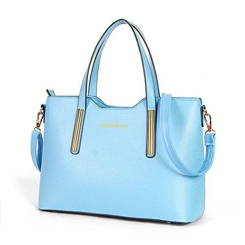 fanhappygo Fashion Retro Leder Damen Schulterbeutel Umhängetaschen Stereotypie Mode Handtaschen Schulter Kurier Handtaschen blau thJIgYw2