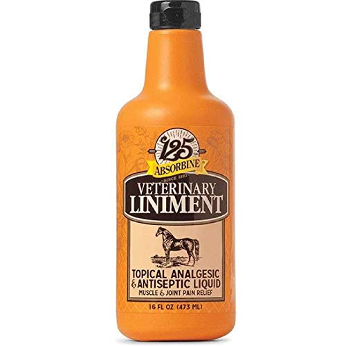 Absorbine Veterinary 16 oz Liniment Liquid Topical Analgesic Sore Muscle and Joint Pain Relief