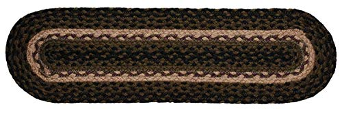 IHF Home Decor Pinecone Jute Braided Stair Tread Oval Rug 8 x 28 Inch from IHF Home Decor