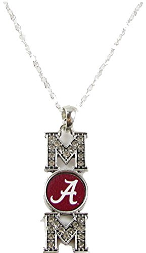 Sports Accessory Store Alabama Crimson Tide Mom Clear Crystal Silver Red Necklace Jewelry Mothers Day UA