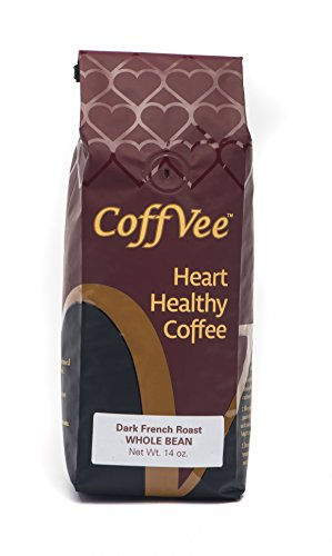 CoffVee- Heart Healthy Coffee Infused with Resveratrol Antioxidant Found in Red Wine - Dark French Roast - Whole Bean Coffee - 14 oz bag - Vera Roasting Company