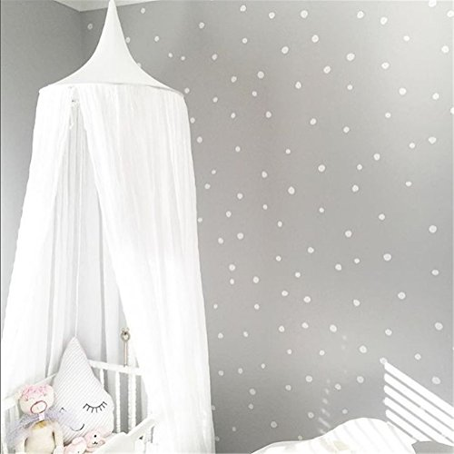 "ZARABE Dome Cotton Mosquito Net Canopy Height 240cm/94.5"",White"