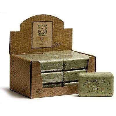 Case of 12 bars Pre de Provence 250g Sage Shea Butter Enriched Triple Milled Soap