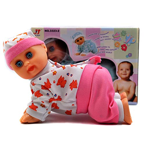 Ronri Funny Electric Intelligent Doll, Laughing Crying Singing Crawling Baby Doll Toy, Girl Toy Gift ()