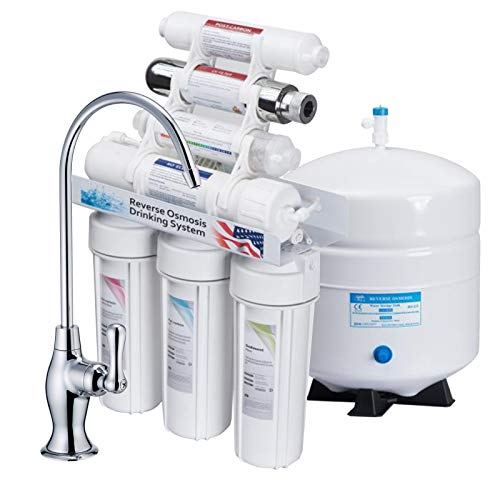 KUPPET 100 GPD 11-Stage Undersink Ultra Violet Sterilizer Reverse Osmosis Water Filter System+Alkaline Filter, Remove Chlorine, Heavy Metals, Fluoride etc, NSF Certificated