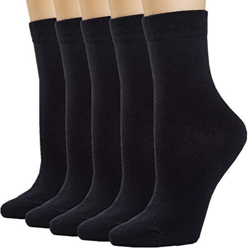 Womens Socks Women Sock Black Crew Cotton Long High Ankle Tall Socks for Women White Navy Blue Socks Trouser Socks Stockings - Trouser Womans Sock