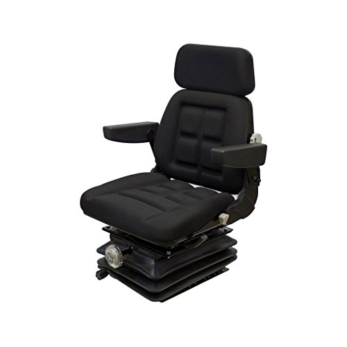 K&M 039-6633 Massey Ferguson Bostrom Forward Angled Suspension KM 1004 UNI PRO Seat and Suspension, Black Fabric by K&M