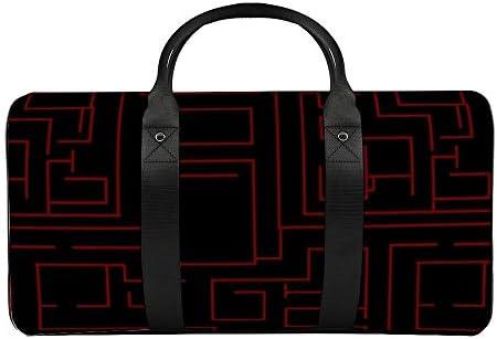 れんが迷路2 旅行バッグナイロンハンドバッグ大容量軽量多機能荷物ポーチフィットネスバッグユニセックス旅行ビジネス通勤旅行スーツケースポーチ収納バッグ